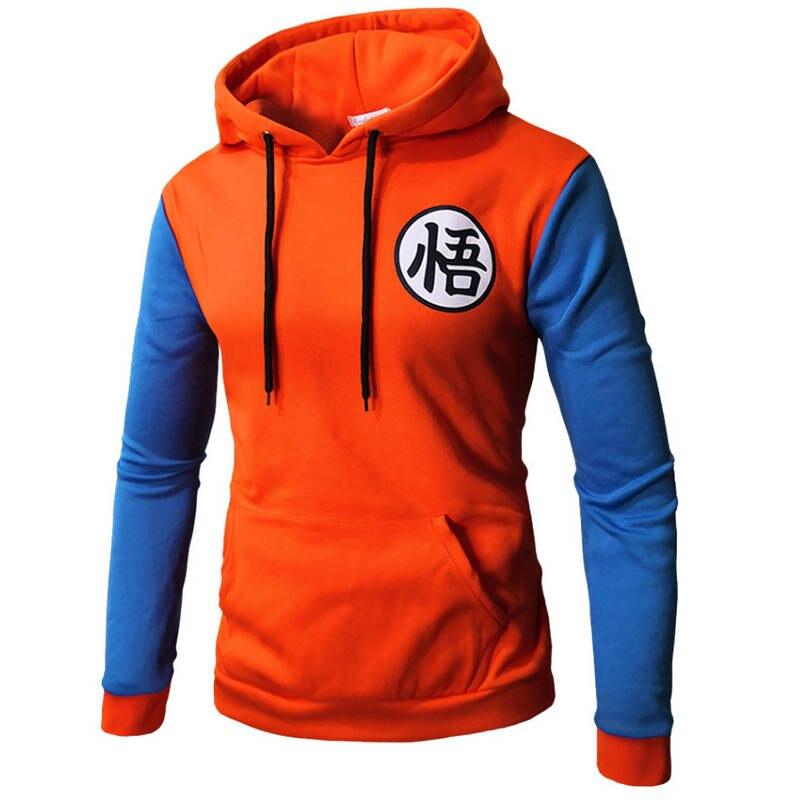 Anime dragon ball hoodies moletom dos homens 2019 outono inverno velo moletom moda hipster sportsuit treino masculino com capuz