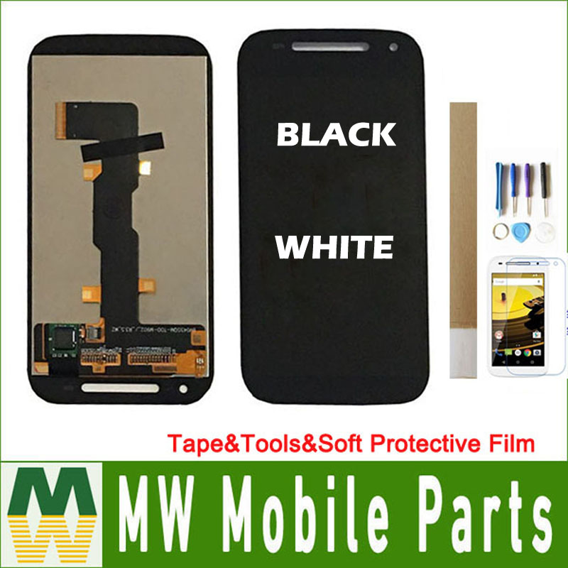 """4.5"""" For Motorola Moto E2 2nd E+1 XT1505 XT1524 XT1511 XT1527 LCD Display Touch Screen Digitizer Black White Color with tools"""