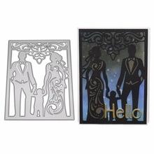 Family Metal Cutting Dies Stencil DIY Scrapbooking Album Stamp Paper Card Embossing Craft Decor