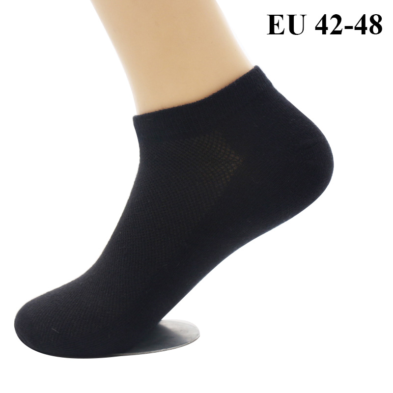 3 Pairs Mens Ankle Socks Extra Plus Large Size 45,46,47,48 Summer Thin Mesh Breathable Combed Cotton Boat Short Seamless Socks Elegant In Smell Underwear & Sleepwears