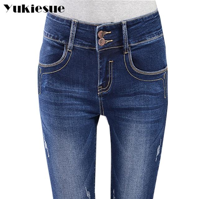 ee8d4d345b690 Winter warm jeans women plus velvet thicken high elastic waist pencil pants  female fleece stretch skinny