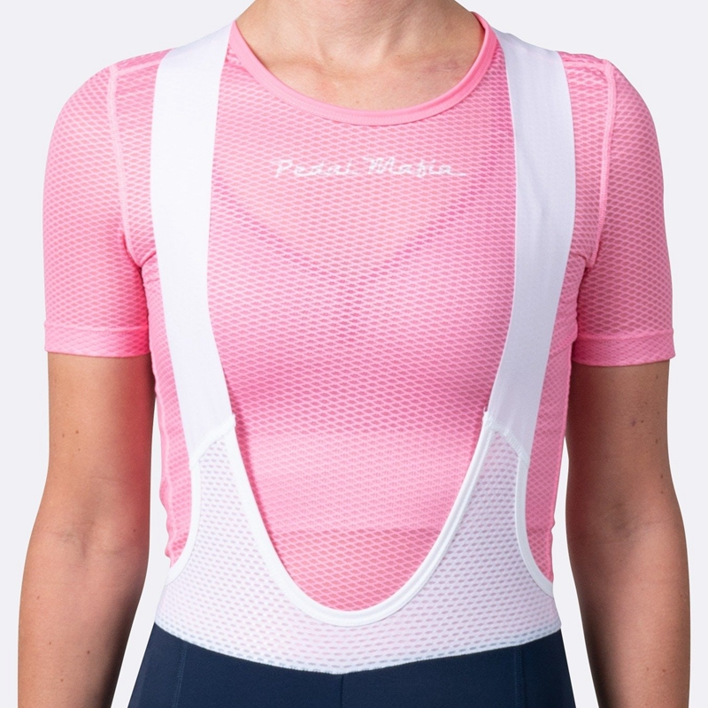 Super licht 2019 Sommer Frauen Mesh Spinnennetz Atmungs Fahrrad Radfahren Basis Schicht rosa Fahrrad Kurzarm Shirt Sport Unterwäsche