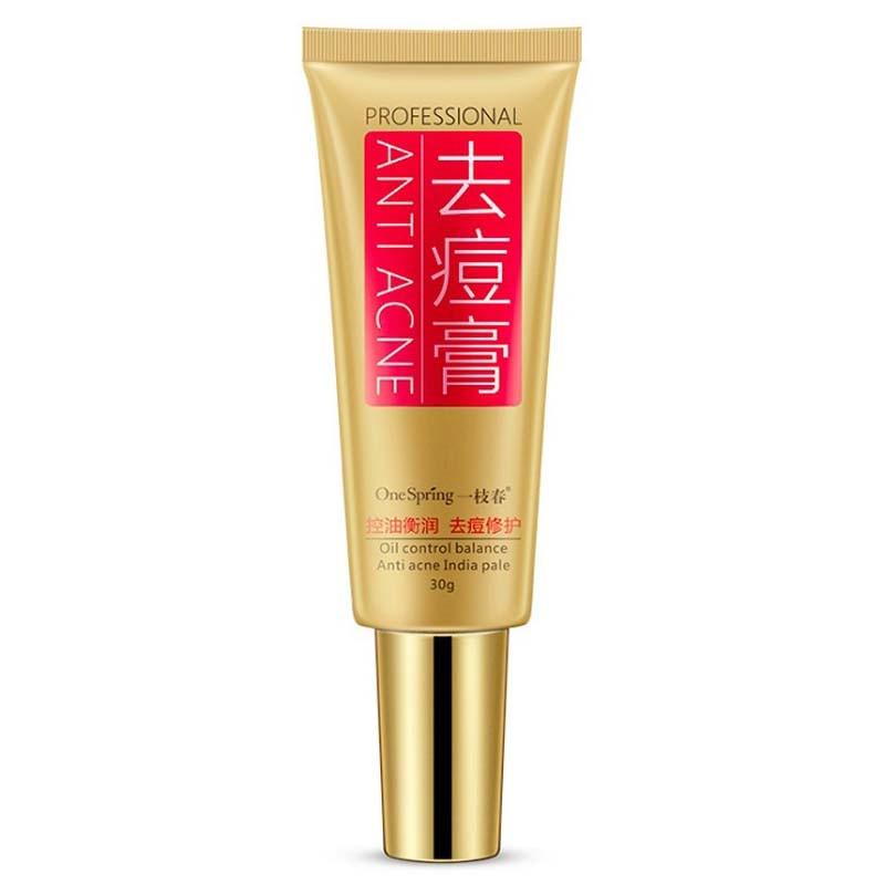 OneSpring Professional Anti Acne Cream Skin Care Oil Control Shrink Pores Acne Scar Removal Gel Cream Face Care 30g