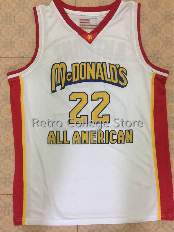 #22 CARMELO ANTHONY Dolphins McDonald ALL AMERICAN high quality basketball jersey Retro throwback Cheap menswear ...