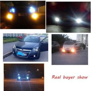 Image 4 - 2 uds blanco 30 SMD 4014 H3 bombillas LED de repuesto para luces antiniebla de coche, luces de circulación diurna, lámparas DRL azul hielo amarillo