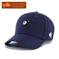 EXILIENS Baseball Cap New Fashion Brand Top 100 Cotton Black No 8 Snapback Caps Strapback