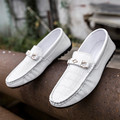 2017 Spring Summer Single Loafers Shoes Slip-on Men Loafers PU Leather Flats Boat Shoes Moccasins Mens Breathable Driving Shoes