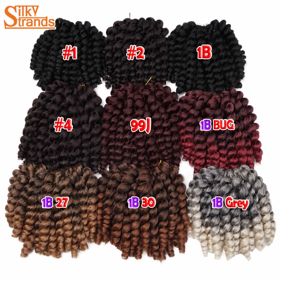 Jumpy Wand ямайский отскок локон вязанные крючком волосы косички накладные волосы Омбре синтетические плетеные волосы