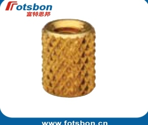 STKB-440-6Thru-Threaded  Molded-in   Insert , Kunrled brass ,nature,PEM standrad,Made in China,