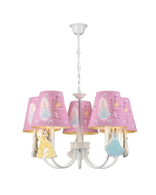 Kids Lamps 5 Lights Princess Theme Pink Chandelier Children Light Bedroom Led For S Room