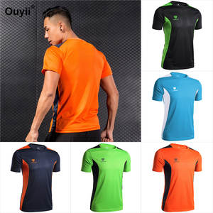 5a47bd5ac Mens Short Sleeve Tees 2018 Men Soccer Basketball Sport T Shirt Gym Shirts