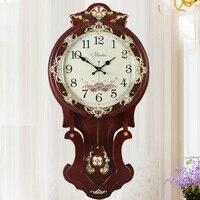 New Large Creative Living Room Bedroom Villa Oversized Mute Core Electronic Quartz Clock Pendulum Classical Wall Clock
