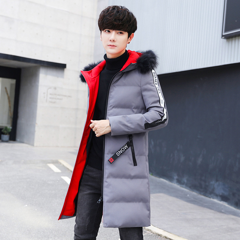 Winter Jacket Men Brand Fashion New Arrival Casual Slim Thick Warm Mens Coats Parkas With Hooded Long Overcoats Clothing Male
