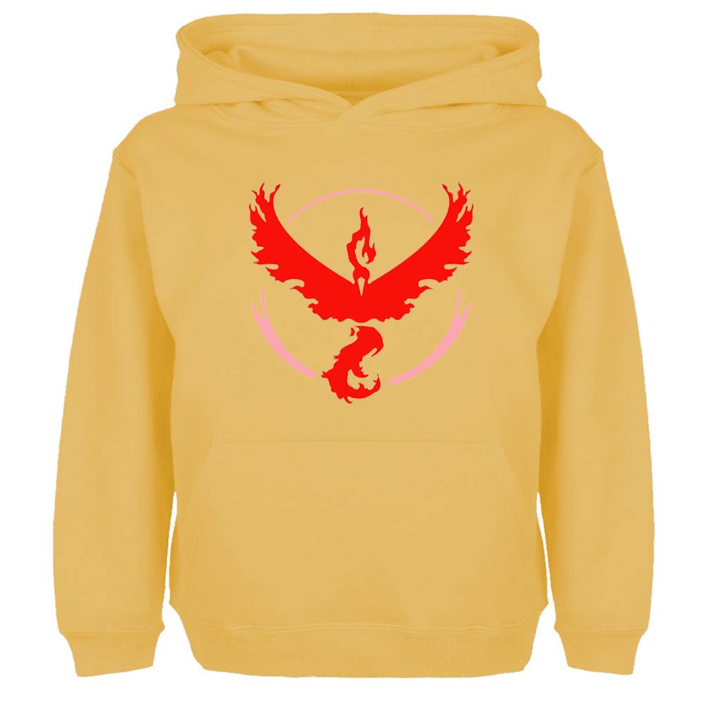 Pokemon Go Game Fans Moltres Team Red Team Design Hoodie Men Women Boy Girl Fashion Hip Hop Sweatshirt Multi Color Hoody Jackets