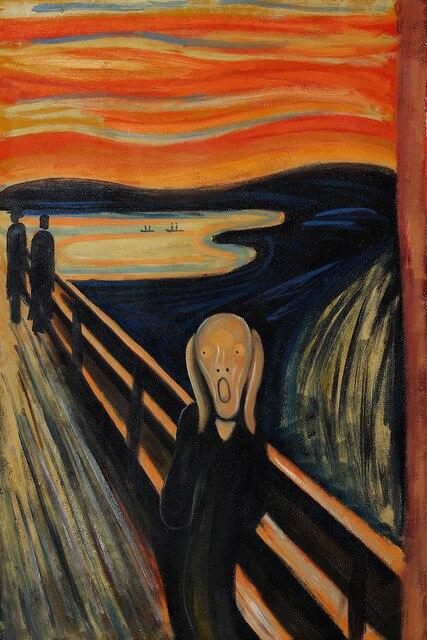 Le Cri par Edvard Munch haute qualité peintures à l'huile reproduction dans Peinture et ...