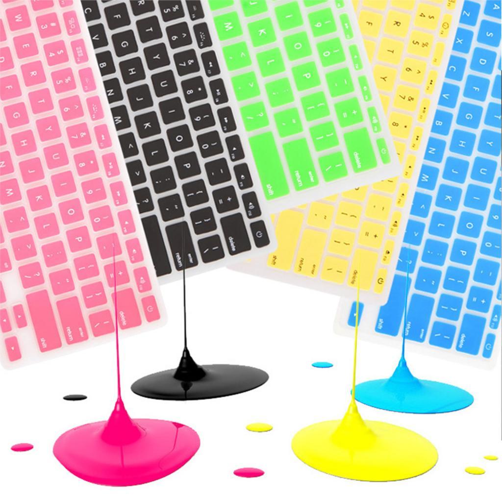 """15 Colori Impermeabile In Silicone Morbido Adesivo Di Protezione Della Pelle Della Tastiera Ue Per 13 """"15"""" Apple Mac Macbook Air Pro Retina/imac G6"""
