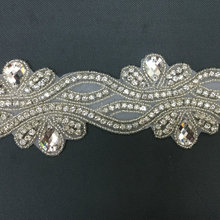 10 yardas de costura Vintage en apliques de diamantes de imitación para cinturones de novia accesorios baratos de diamantes de imitación DIY para vestido de novia