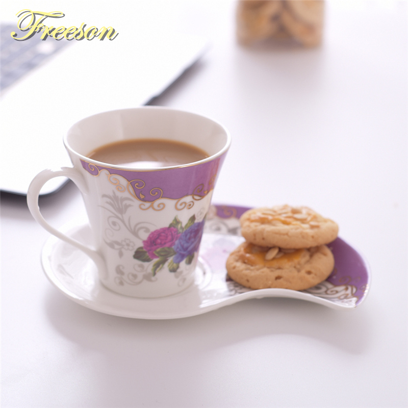 Nordic breve china de hueso la taza de café plato cuchara conjunto ...