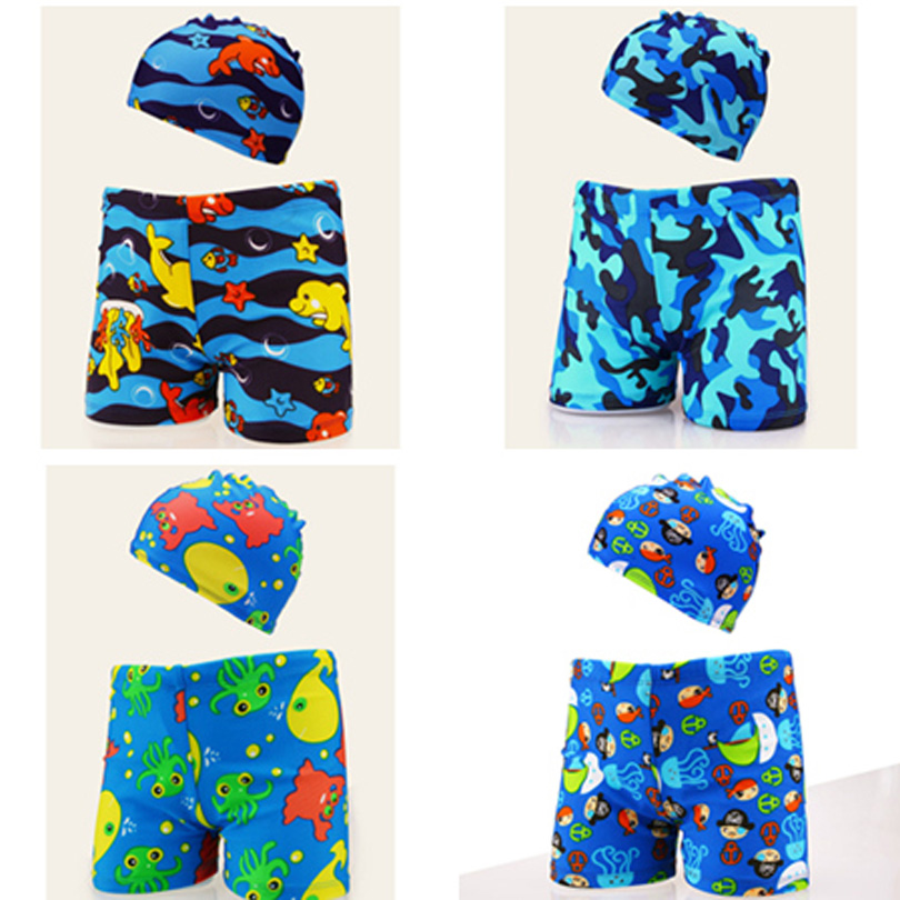 Kid Children Boys Cartoon Print Stretch Beach Swimsuit Swimwear Pants Shorts 2019 New Swimwear,kids Boy Swimming Trunks Bathing