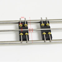 HO Scale Model Railway 1:87 Scale Train Riders Standard Track Roller Test Stand With 6 Trolleys Train Treadmill Track Bearing