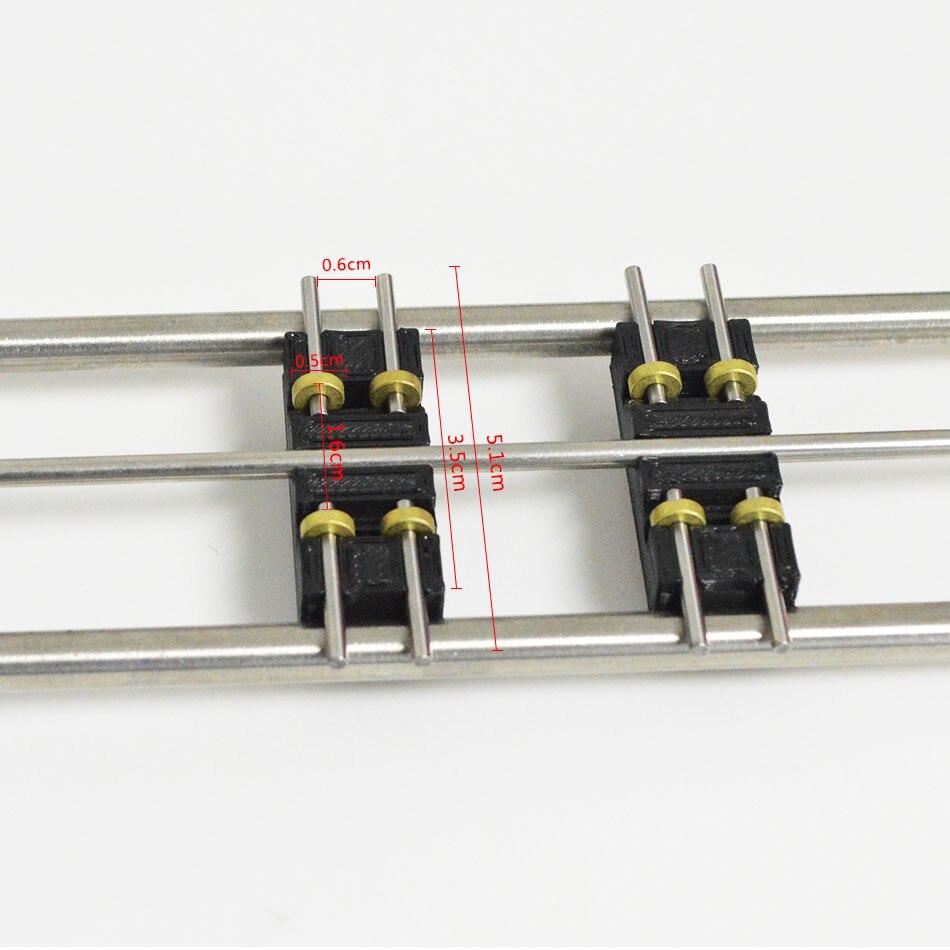 Tren de escala HO 1: 87 escala tren jinetes de la pista estándar de prueba con 6 carros de tren cinta pista rodamiento-in Kits de construcción de maquetas from Juguetes y pasatiempos    1