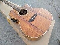 Бесплатная доставка custom shop Гитары s симулятор звук цельнокроеная ААА КоА акустической гитары хороший народная Гитары s