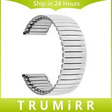 2016 NUEVA Elástica de Acero Inoxidable Correa de Reloj 16mm 18mm 20mm 22mm 24mm correa de Reloj de Reemplazo Universal Correa de pulsera de Enlace de Plata