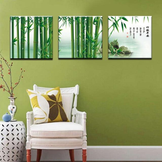 Comprar 3 unidades de bamb arte lienzo de - Cuadros para la pared ...