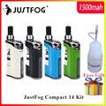 В НАЛИЧИИ комплект электронных сигарет JustFog Compact 14 Kit 1500mah Встроенный аккумулятор с 5 шт. Coil vs Justfog Q16/Q14 Kit