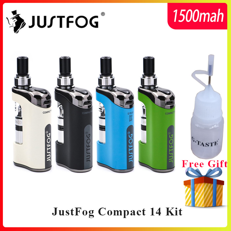En stock E Cigarette Kit JustFog Compact 14 Kit 1500mah batterie intégrée avec 5 pièces Justfog Bobine vs Justfog Q16/Q14 Kit