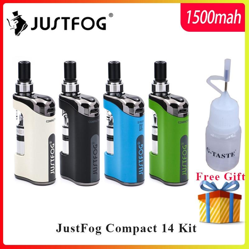 En stock E Cigarette Kit justbrouillard Compact 14 Kit 1500mah batterie intégrée avec 5 pièces justbrouillard bobine vs justbrouillard Q16/Q14 Kit