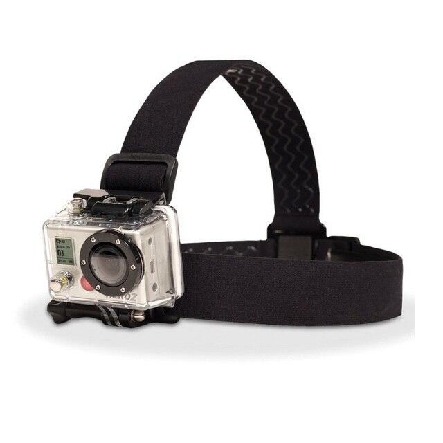 Ceinture de fixation de sangle de tête de harnais réglable élastique pour GoPro HD Hero 1/2/3/4/5/6/7/8 SJCAM caméra daction noire