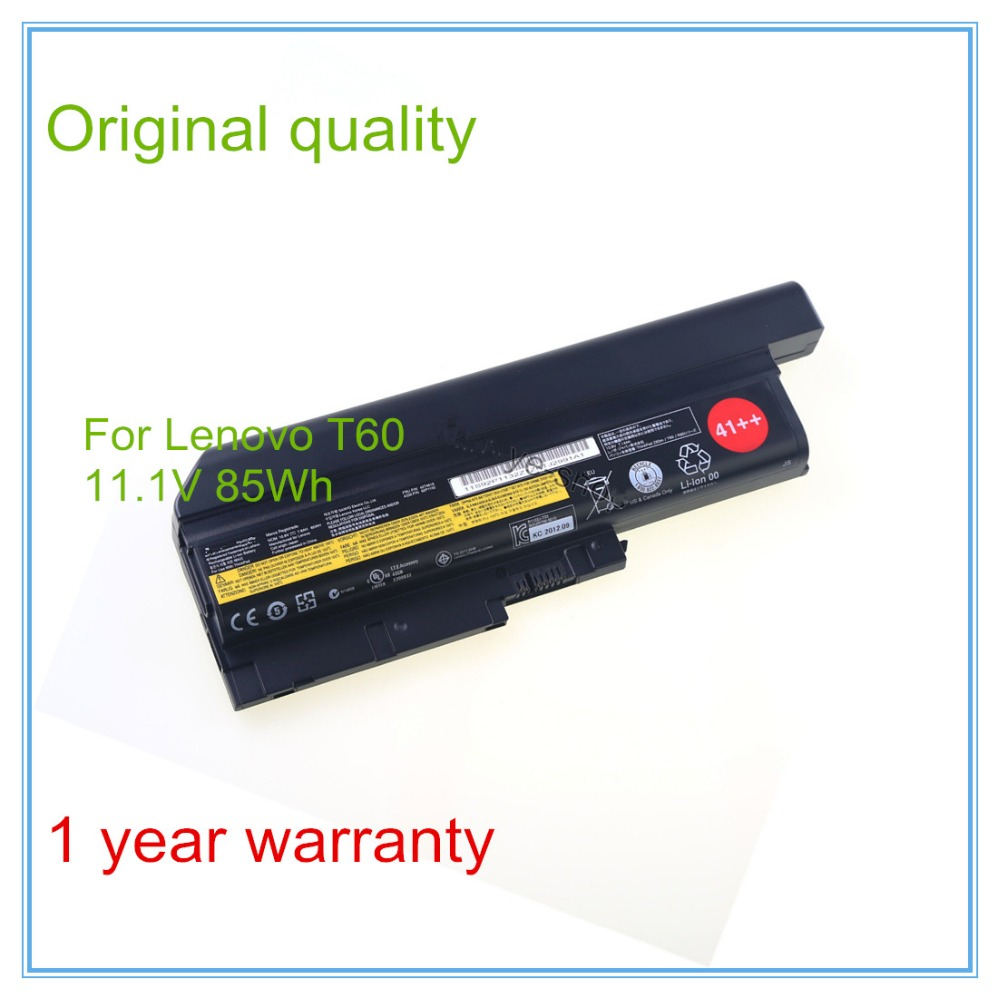 New 9cells 85Wh Original Laptop Battery For  R60 R60e T60 T60p R500 T500 W500 Laptop+free shipping 9cells 85wh original new laptop battery for dell latitude e6400 atg e6500 e6510 pt435 nm633 mp307