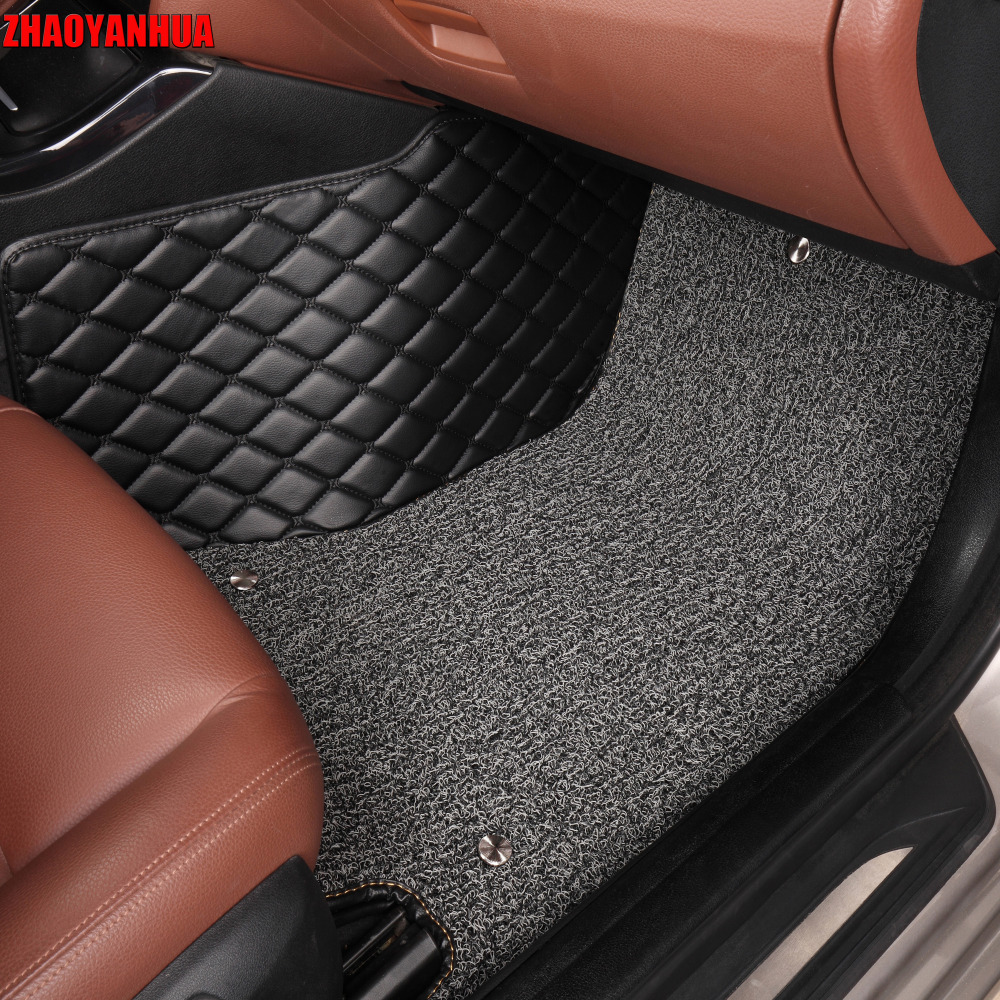 ZHAOYANHUA Car floor mats for <font><b>Lexus</b></font> <font><b>NX</b></font> 200 200T <font><b>300h</b></font> NT200 NX200T NX300H <font><b>F</b></font> <font><b>Sport</b></font> RX waterproof car-styling leather carpet rugs image