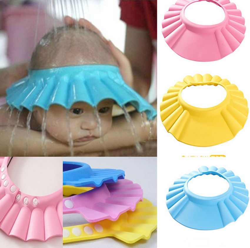 Bathroom Soft Shower Wash Hair Cover Head Cap Hat for Child Toddler ...