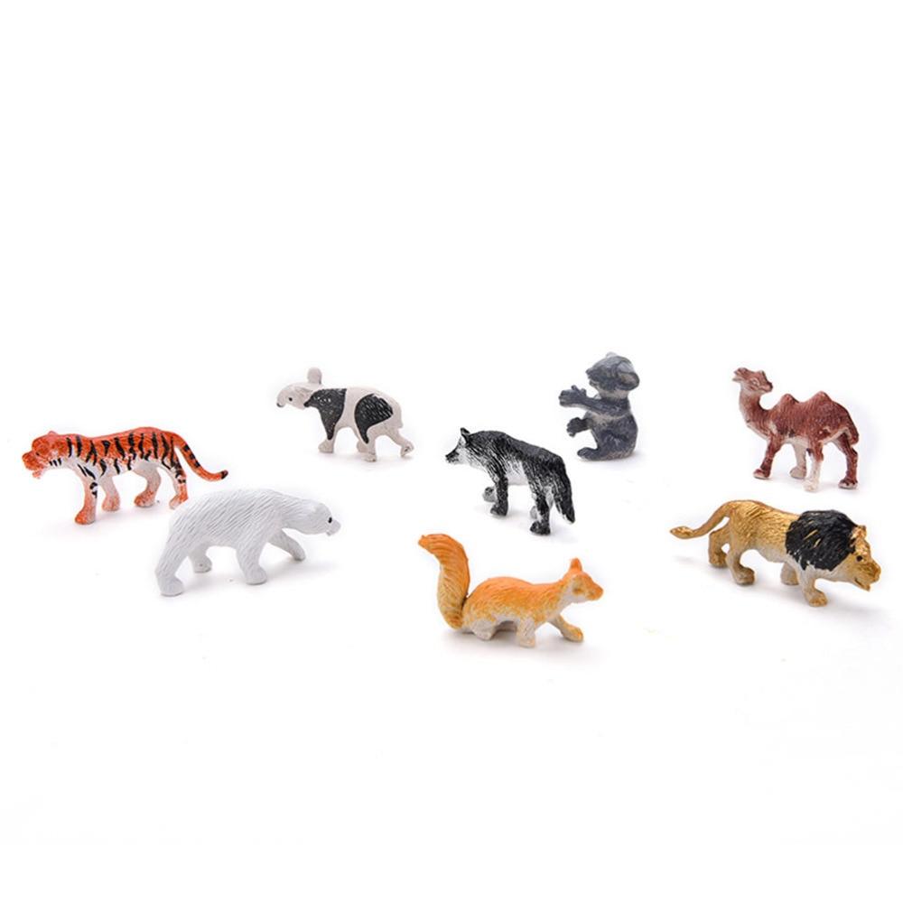 Animaux En Plastique Jouet €1.1 22% de réduction|8 pièces figurines d'animaux sauvages chauds jouets  en plastique dur enfant enfants modèles animaux ensemble action multicolore
