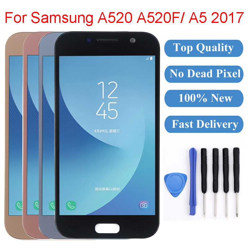 5.2 LCD For Samsung Galaxy A520 SM-A520F A520F A5 2017 LCD Display Digitizer Touch Screen for Samsung A5 2017 Display A520 lcd5.2 LCD For Samsung Galaxy A520 SM-A520F A520F A5 2017 LCD Display Digitizer Touch Screen for Samsung A5 2017 Display A520 lcd