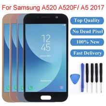 ЖК-дисплей 5,2 дюйма для Samsung Galaxy A520, сенсорный экран с цифровым преобразователем для Samsung Galaxy A520, A520F, A5 2017, дисплей для Samsung A5 2017
