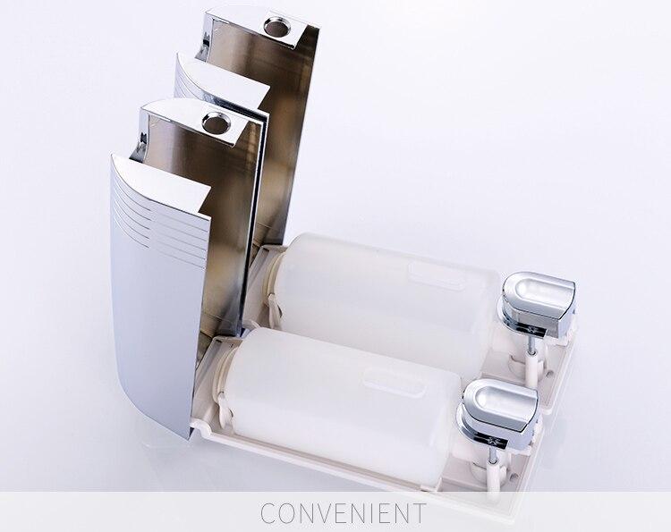 Zeepdispenser Douche Wand : Dubbele zeepdispenser wand zeep shampoo dispenser douche helper