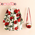 Lawadka Girls Princess Dress with Bag Cute Cartoon Pattern Baby Girl Dress Fashion Chlidren Clothes