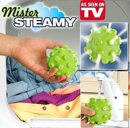 Mister Steamy Steam Laundry Ball As Seen On TV Wash Laundry Ball