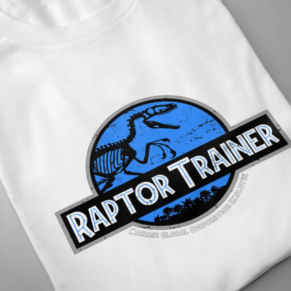 Jurassic Park World Raptor Trainer T shirt Men 39 s Quality Retro Stylish Tee Cotton Big Size Homme T Shirt in T Shirts from Men 39 s Clothing