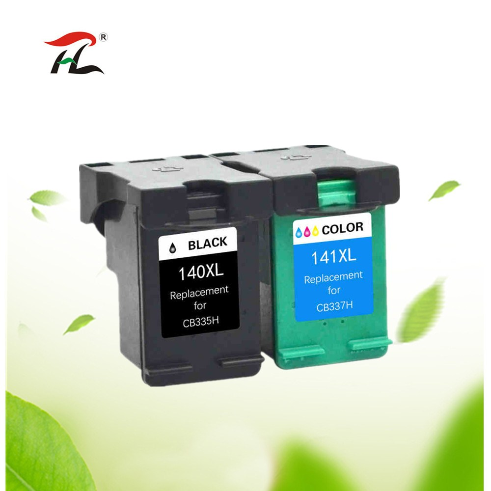 YI LE CAI 2PK Compatible 140XL 141XL Ink Cartridge for <font><b>HP</b></font> <font><b>140</b></font> <font><b>141</b></font> for Deskjet C4583 C4283 C4483 C5283 D5363 printer image