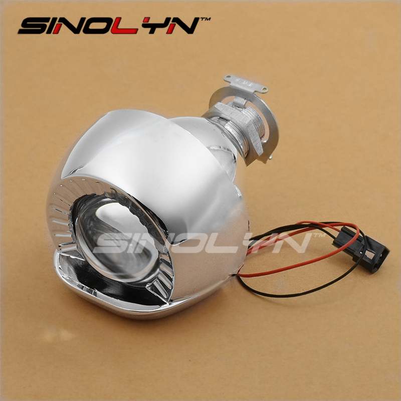 1.8'' Smallest Micro HID Bi xenon Headlight Foglights Projector Lens With Shrouds LHD RHD For Cars/Motorcycle H7 H4 Car Styling