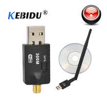 kebidu 300 Mbps USB Wifi Adapter USB 2 0 Wireless 2 4GHz Network Lan Card Antenna For Windows XP Vista 7 Linux for Mac OS X cheap 300Mbps External Desktop USB2 0 1200 Mbps 802 11n ETHERNET 50cm Fast Ethernet KBT001083 Stock Single frequency (2 4-2 4835GHz)