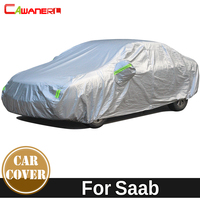 Cawanerl Cotton Thicken Car Cover Outdoor Anti UV Sun Shade Snow Rain Protect Waterproof Auto Cover For Saab 9 3 9 5 9 7X