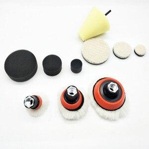 Image 3 - 1 de alta calidad, almohadilla de espuma de pulido fino de 2,3 pulgadas (3 almohadillas de espuma, 3 almohadillas de respaldo, 3 almohadillas de lana japonesas, 3 bolas de lana, 1 cono,