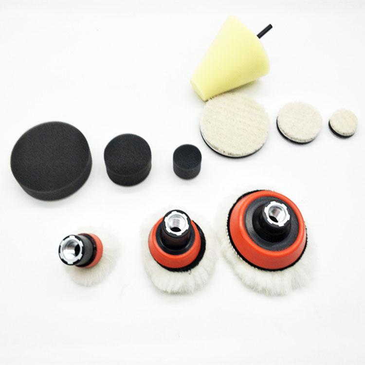 Image 3 - high quality1,2,3 inch fine grinding polish buffing foam pad(3foam pad,3backing pad,3japanese wool pad,3wool ball,1cone shape ,-in Waxing Sponge from Automobiles & Motorcycles