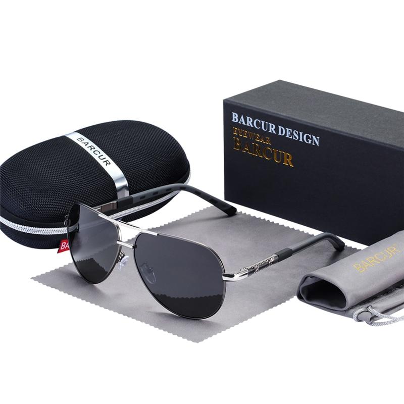 BARCUR Fashion Glasses Hot Style Men sunglasses Polarized UV400 Protection Driving Sun Glasses Male Oculos de sol 5