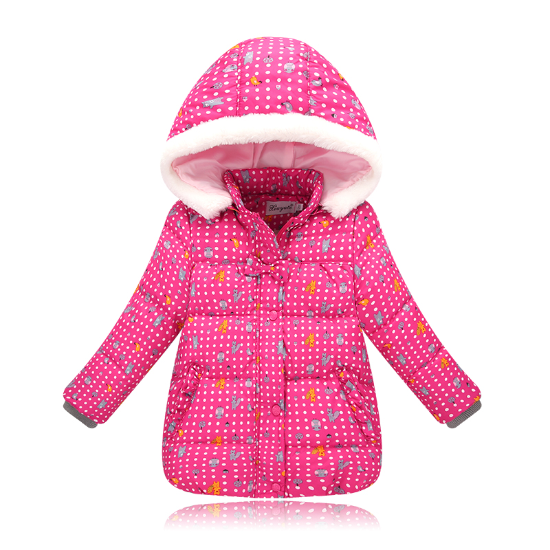 New Brand Children Outerwear Fashion Flower Warm Cotton Down Girl Winter Coat Kids Clothes Baby Girls Jackets For 2-7Y 2017 winter baby coat kids warm cotton outerwear coats baby clothes infants children outdoors sleeping bag zl910